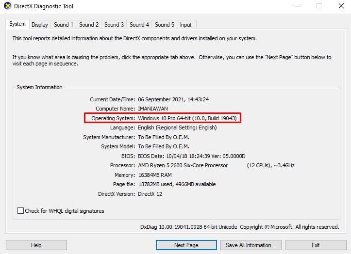 directx diagnostic tool - fandi.web.id